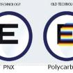 Srovnání materiálu PNX a klasické plastové čočky (polykarbonát).