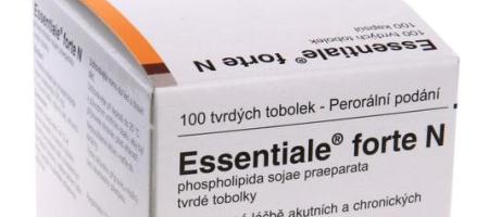 Lék najátra Essentiale ajeho cena pro pacienta