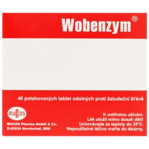 Wobenzym, enzymy v tabletě